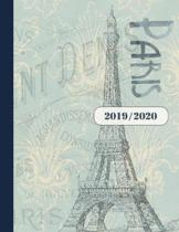 2019 2020: Terminplaner 18 Monate Planer f�r Frauen, A4 - Paris Kalender Organizer ab Juli 2019 bis Dezember 2020 - Jahres�bersic