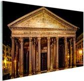 Pantheon Rome in de nacht Glas 90x60 cm - Foto print op Glas (Plexiglas wanddecoratie)