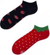 Toffe Sokken - Gekke Sokken - Leuke Sokken - Strawberries - LAAG - Maat: 35 t/m 38
