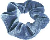 Lucardi Diversen  - Velvet scrunchie blauw