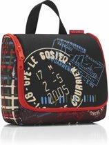 Reisenthel Toiletbag Toilettas - Ophangen - Polyester - 3L - Special Edition Stamps Zwart