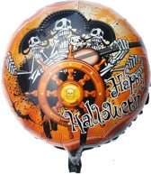 Folieballon Happy Halloween Skelet