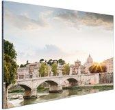 Zonsondergang Rome Aluminium 120x80 cm - Foto print op Aluminium (metaal wanddecoratie)