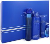Perry Ellis 360 Very Blue Gift Set 100 ml Eau De Toilette Spray + 7.5 ml Mini EDT Spray + 90 ml Shower Gel + 200 ml Body Spray