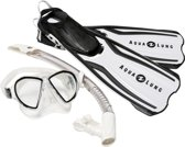 Aqua Lung Sport Amika Travel Set - Snorkelset - M (39-43) - Arctic Wit