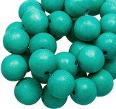 Houten Kralen Intense Look (8 mm) Turquoise (208 stuks)