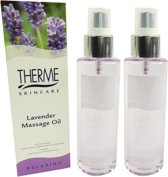 Therme Skincare Lavender Massage Oil - Multipack 2x125ml