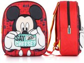Disney Mickey Mouse 3D Rugzak rugzak - Kinderen - Rood foto's maken Say Cheese