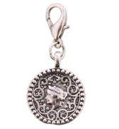 2-zijdige zilveren munt/hanger voor bij bijpassende ketting. Doorsnede 2 centimeter.