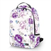 Laptop rugzak 17,3 Deluxe paarse bloemen - Sleevy - schooltas