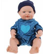 Falca Babypop 40 Cm Jongen Blauw