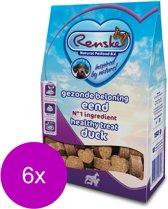 Renske Gezonde Beloning Hartjes 150 g - Hondensnacks - 6 x Eend