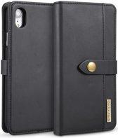 Apple iPhone XR Leren 2-in-1 Bookcase en Back Cover Hoesje Zwart