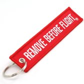 Remove Before Flight Sleutelhanger - SuperEasyCommerce - Rood en Wit