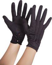 Zwarte handschoenen met sluitknoopje voor volwassenen - Verkleedattribuut