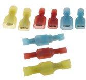 Kabelschoentjes assortiment Geel/Rood/Blauw 300 stuks (150 paar) / Male+Female