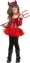 Rood duivel kostuum voor meisjes - Verkleedkleding