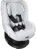 Dooky Seat Cover Groep 1 Autostoel hoes Light Grey Crowns