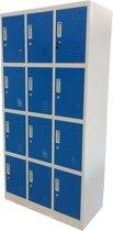 Kraftmeister Locker 12 deuren blauw