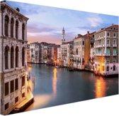 Groot kanaal Venetie Canvas 80x60 cm - Foto print op Canvas schilderij (Wanddecoratie)