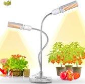 Ortho LED Groeilamp Wit licht Bloeilamp Fel Kweeklamp Full Spectrum Grow light groei lamp (met 2 lampen) met flexibele lamphouder Hoge lichtintensiteit - klem spotje