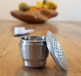 Herbruikbare Nespresso capsule - Hervulbare capsule - Koffie capsule - Nespresso cups - RVS