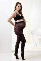 Mamsy Comfortabele Semi Transparante Zwangerschapspanty 40den (Zwart | M)