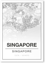 Poster/plattegrond SINGAPORE - A4