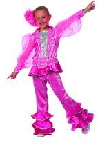 Carnavalskleding Mama Mia Abba meisje roze Maat 140