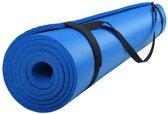 ScSports Fitnessmat - 185 cm x 80 cm x 1 cm - Blauw
