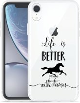 Apple iPhone Xr Hoesje Life is Better with Horses