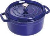 Staub Ronde Cocotte 24cm-donkerblauw