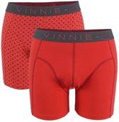 Vinnie-G Flamingo boxershorts 2-pack Rood/Print-M