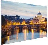 Rome in de avond Aluminium 60x40 cm - Foto print op Aluminium (metaal wanddecoratie)