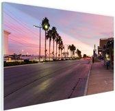 Kleurrijke lucht Las Vegas Glas 90x60 cm - Foto print op Glas (Plexiglas wanddecoratie)