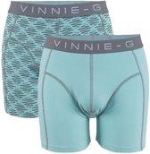 Vinnie-G boxershorts Mint Light - Print 2-Pack-XL
