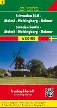 FB Zweden, blad 1 Zuid • Malmö • Helsingborg • Kalmar