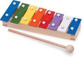 New Classic Toys - Metallofoon - Pocket - 8 toons - Gekleurd - Met Muziekboekje