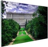 Het Koninklijk Paleis in Madrid Glas 30x20 cm - Foto print op Glas (Plexiglas wanddecoratie)