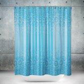 Roomture - douchegordijn - Blue mosaic - 240 x 200 - extra breed