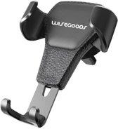WiseGoods - Premium Universele Zwaartekracht Telefoonhouder Voor In De Auto - Universele Autohouder - Telefoonhouder - Auto Telefoonhouder Ventilatie Rooster - Smartphone Houder - Zwart