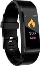 WiseGoods - Stappenteller - Activity Tracker - Smart Watch - Calorieteller - Fitnesstracker - Zwart