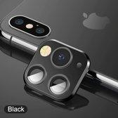 voor iphone X/Xs/Xs Max voorzet camera cover iPhone 11 pro stijl - zwart