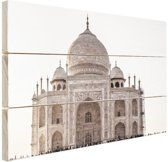 Taj Mahal India Hout 80x60 cm - Foto print op Hout (Wanddecoratie)