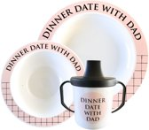 Dinnerdate with Dad Servies set roze incl. tuit