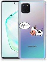 Samsung Galaxy Note 10 Lite Telefoonhoesje met Naam Cow