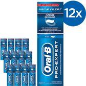 Oral B Pro-Expert Intense Reiniging - Voordeelverpakking 12x75ml - Tandpasta