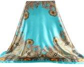 Turquoise Dames Sjaal 90 x 90cm - Shawl
