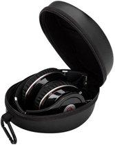Hardcase Koptelefoonhoes / Headphone travel case voor on-ear koptelefoon - Opbergtas elektronica - Opberghoes voor Kabels en On-ear Koptelefoon en accessoires - Zwart