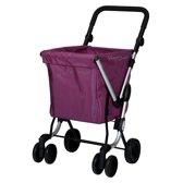 Playmarket Boodschappentrolley We Go Lila 4 wielen - 51 L Inhoud - inklapbaar - Extra groot
